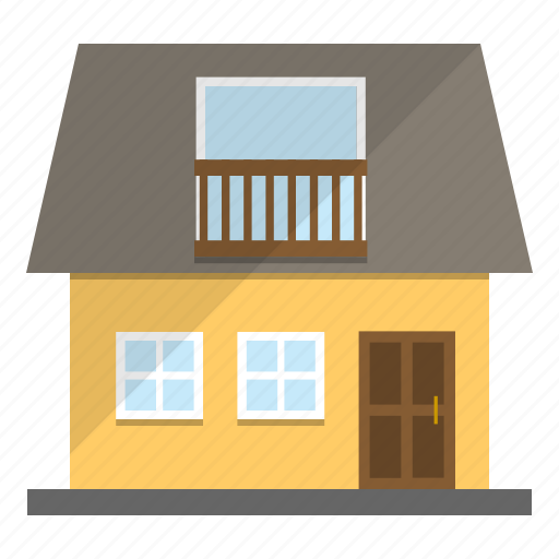 cute, home, house, yellow icon