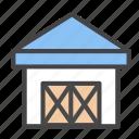 depositary, depository, depot, storehouse, warehouse, wareroom icon