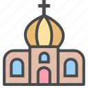 church, hall, house icon