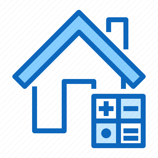 calculator, home, house, mortgage, rent icon