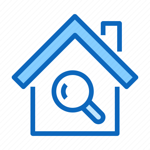home, homepage, house, search icon