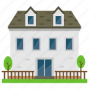 architecture, countryside house, home, home yard, house exterior icon