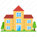 church building, holy architecture, home church, house church, house exterior icon