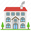 architecture, building, commercial building, home, residential flats icon