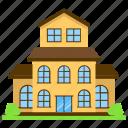 cottage, home, multiple-storeyed house, manor house, residence icon