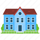 architectural building, historical house, home building, manor house, manorial property icon