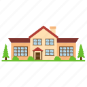 architectural building, countryside home, ontario cottage, residential property, yard home icon
