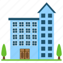 apartments, home, home architecture, multi-storey house, residential flats icon