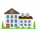 apartments, architecture, commercial building, cottages, country home icon