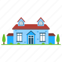 coral architecture, coral conch, cottages, historical house, house exterior icon