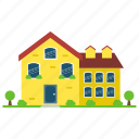 cornish cottage, cottages, house style, residence, yellow cottage icon