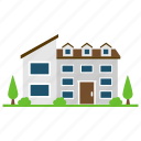 architecture, house style, i-house, residence, vernacular house icon