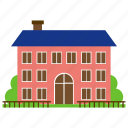 airey house, prefabricated house, real estate, redbrick building, residence icon