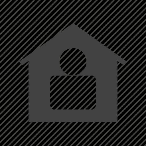 door, garden, home, house, modern, residence, resident icon