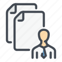 cv, file, info, man, people, person, resume icon