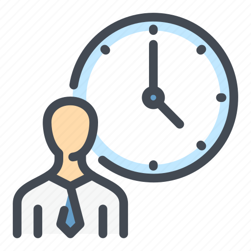 Business, clock, employee, person, schedule, time, watch icon - Download on Iconfinder