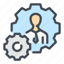 employee, man, people, person, profile, skill, skills icon