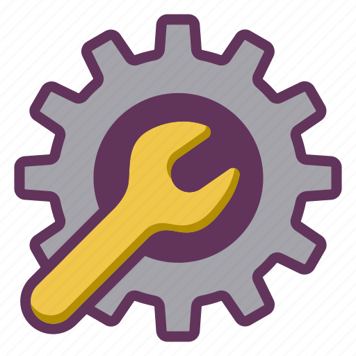 engine, fix, gear, service, support icon