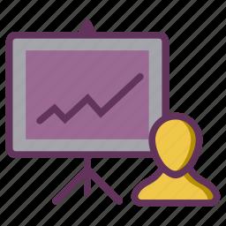 analysis, growth, performance, presentation, productivity icon