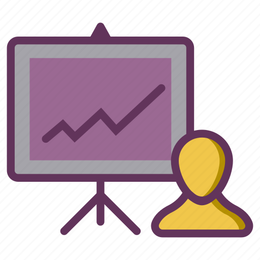 analysis, growth, performance, presentation, productivity icon