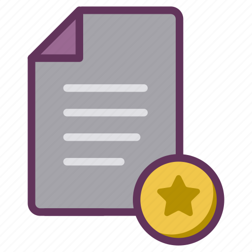 award, bookmark, document, favourite, letter, star, starred icon