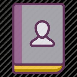 book, employee, handbook, manual, staff, user icon