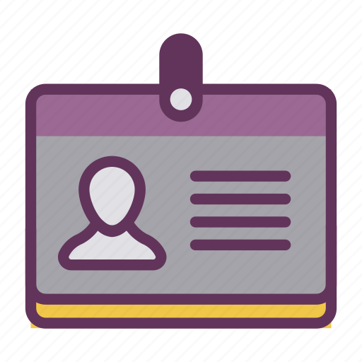 Badge, candidate, profile, staff, user, account icon - Download on Iconfinder