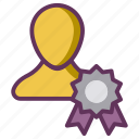 candidate, employee, reward, star, winner icon
