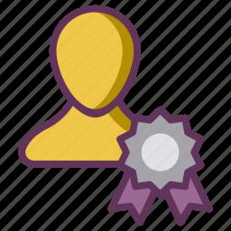 candidate, employee, reward, star, winner icon