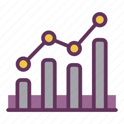 development, growth, performance, productivity, statistics icon