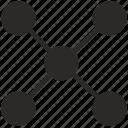 cable, hub, nodes, usb icon