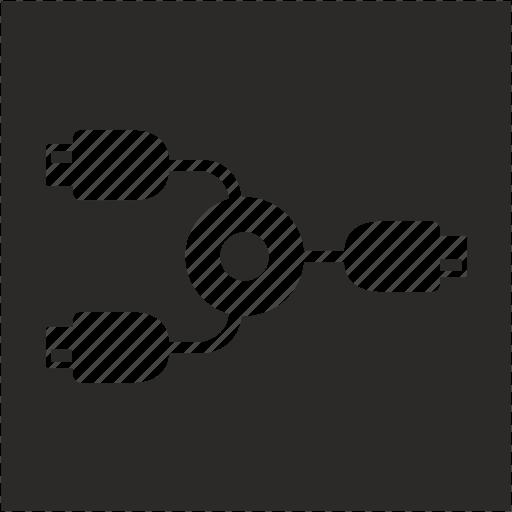 cable, hub, square, usb icon