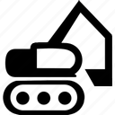 building, equipment, excavator, heavy, heavy machines, machine, power, power shovel, transportation, vehicle icon