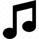 audio, music, notation, note, notes icon