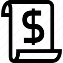 business, buy, dollar, ecommerce, finance, financial, list, price, pricelist, prices, shopping icon
