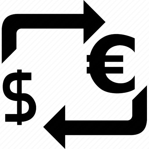 bank, cash, conversion, convert, currency, dollar, exchange, money, sell, sign icon
