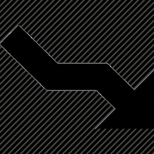 arrow, chart, consulting, crisis, down, economic, economics, fall, forex, stock icon