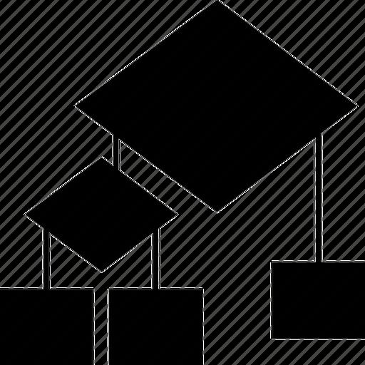 algo, algorithm, block, chart, connector, diagram, down, draw, flow, flow block, flow chart, flow-block, flowblock, graph, method, report, scheme icon