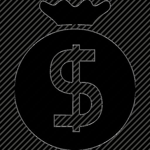 bag, business, cash, dollar, money, money bag, shopping icon