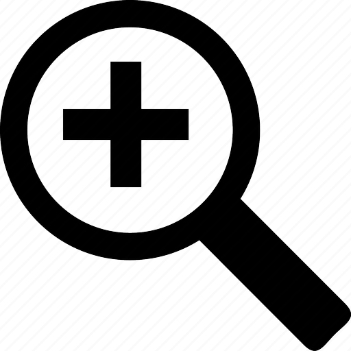 find, in, magnifying glass, search, zoom icon
