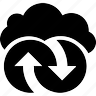 arrows, cloud, cloudy, refresh, reload, repeat, sync, synchronize, update icon