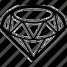 clear, diamond, diamonds, exclamation, gem, glass, hard, hardness, prosperity, ruby, stone, transparent icon