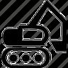 building, equipment, excavator, heavy, heavy machines, machine, power, power shovel, transportation, vehicle icon