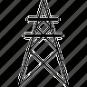 derrick, gasoline, oil, oil derrick, platform, refinery icon