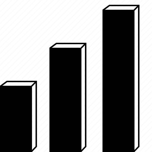 3d chart, 3d graph, bar, chart, graph, line, statistics, stock icon