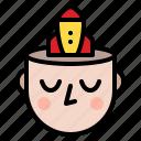 developer, idea, mind, strength icon