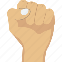 fight, fist, hand, power icon