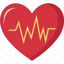 electrocardiogram, heart, medical, pulse, rate icon