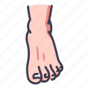 anatomy, barefoot, body, foot, human, people, toe icon