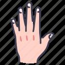 hand, body, nail, fingernail, human, finger